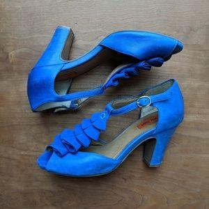 Miz Mooz Sailor T-Strap Peep Toe Heels